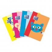 Zeszyt OXFORD KIDS A5 / 16 kartek linia podwójna kolorowa 400092586