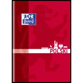 Zeszyt szkolny OXFORD Język Polski A5 / 60 kartek w linie, okładka laminowana 400092587