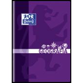 Zeszyt szkolny OXFORD Geografia A5 / 60 kartek w kratkę, okładka laminowana 400092592