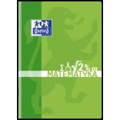 Zeszyt szkolny OXFORD Matematyka A5 / 60 kartek w kratkę, okładka laminowana 400092595