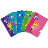Zeszyt OXFORD Lion A5 / 32 kartek linia podwójna kolorowa 400106955