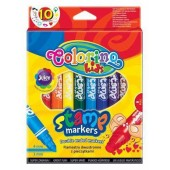 PATIO Flamastry COLORINO dwustronne pieczątki 10 kolorów  36092