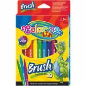 Flamastry pędzelkowe 10 kolorów