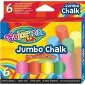 Kreda kolorowa Jumbo 6 kolorów