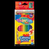 Kredki ołówkowe trójkątne COLORINO Kids (12kol) 54706PTR