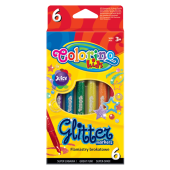 Flamastry brokatowe COLORINO Kids (6kol) 65641PTR