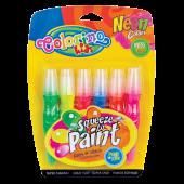 Farby w tubie z pędzelkiem COLORINO Kids 6kol. neon 34166PTR