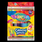 Kredki ołówkowe dwukolorowe COLORINO Kids trójkątne 12/24kol. 33046PTR