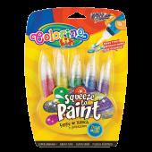 Farby broktaowe w tubie COLORINO Kids 5kol. z pędzelkiem 66051PTR