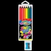 Kredki ołówkowe COLORINO Kids Jumbo, neon (6kol) 34654PTR