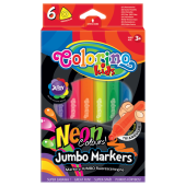 Flamastry COLORINO Kids, Jumbo, Neon (6kol) 38881PTR