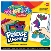 Magnesy na lodówkę COLORINO Creative mix wzorów (4szt) 91411PTR
