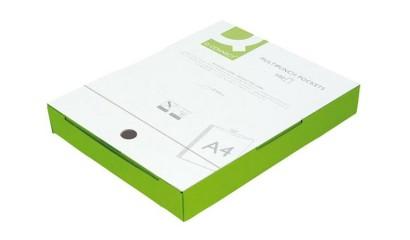 Koszulka krystaliczna Q-CONNECT A4 50mic. (100szt) w pudełku KF15724