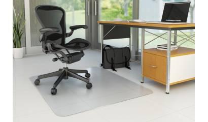 Mata pod krzesło Q-CONNECT, na podłogi twarde, prostokątna, wym. 914x1220mm, grub. 2,5mm, PVC