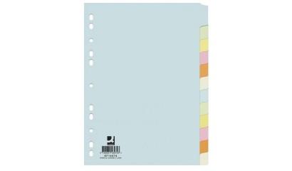 Przekładki kartonowe Q-CONNECT A4 12 kolorów KF16074