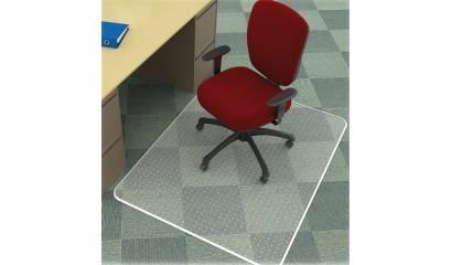 Mata pod krzesło Q-CONNECT, na dywan, prostokątna, wym. 914x1220mm, grub. 2,5mm, PVC