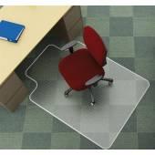 Mata pod krzesło Q-CONNECT, na dywan, kszatałt T, wym. 914x1220mm, grub. 2,5mm, PVC