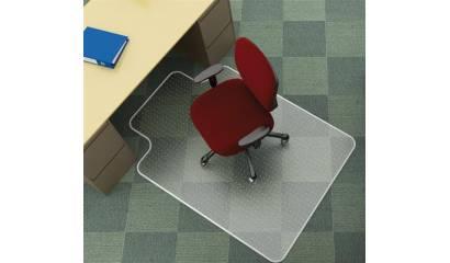 Mata pod krzesło Q-CONNECT, na dywan, kszatałt T, wym. 1143x1346mm, grub. 2,5mm, PVC