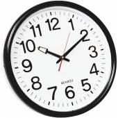 Zegar ścienny Q-CONNECT Wels, 37,5cm, czarny KF15592