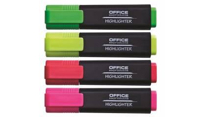 Zakreślacz OFFICE PRODUCTS 1-5mm,kpl.4 kolorów 17055214-99