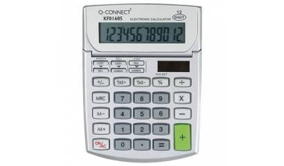 Kalkulator biurowy Q-CONNECT 12-cyfrowy,102x140mm, szary KF01605