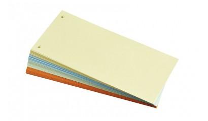 Przekładki kartonowe Q-CONNECT 1/3 A4 mix kolor (100szt) KF14477
