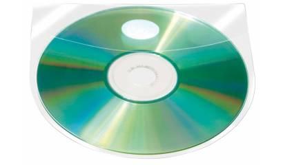 Kieszeń samoprzylepna Q-CONNECT na 2-4 CD/DVD 127x127mm, transparentna (10szt) KF27032