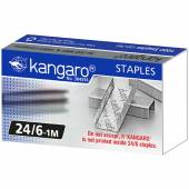 Zszywki KANGARO galwanizowane 24/6 (1000szt) KA24/61M