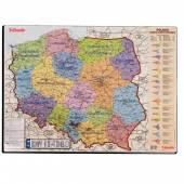 Podkładka na biurko ESSELTE Mapa Polski 500x650mm 12051