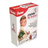 Zestaw kreatywny PENTEL pastele do tkanin + BN15 + worek