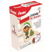 Zestaw kreatywny PENTEL pastele do tkanin + BN15 + skarpeta