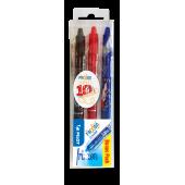 Pióro kulkowe PILOT Frixion Clicker czarne + czerwone+ niebieskie LE