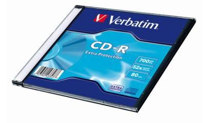 Płyta CD-R VERBATIM 700MB 52x slim (1szt)