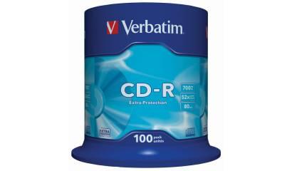 Płyta CD-R VERBATIM 700MB 52x Cake (100szt)