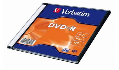 Płyta DVD-R VERBATIM 4.7GB Slim (1szt)