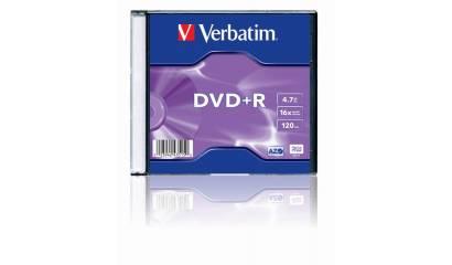 Płyta DVD+R VERBATIM 4.7GB Slim (1szt)