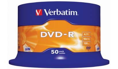 Płyta DVD-R VERBATIM 4.7GB Cake (50szt)