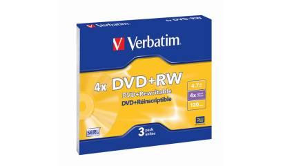 Płyta DVD+RW VERBATIM 4.7GB Slim (1szt)