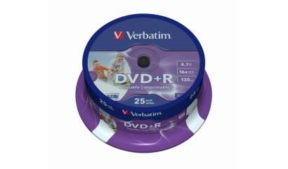 Płyta DVD-R VERBATIM 4,7GB 52x do nadruku Cake (25szt)