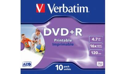 Płyta DVD+R VERBATIM 4,7GB 16x do nadruku JevelCase (1szt)