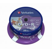 Płyta DVD+R VERBATIM 4,7GB 16x do nadruku Cake (25szt)