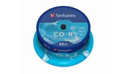 Płyta CD-R VERBATIM 700MB 52x Cake (25szt)