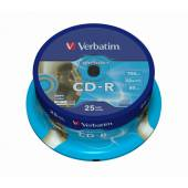 Płyta CD-R VERBATIM 700MB 52x do nadruku Cake (25szt)