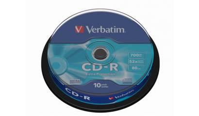 Płyta CD-R VERBATIM 700MB 52x Cake (10szt)