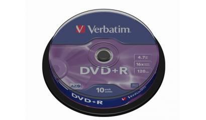 Płyta DVD+R VERBATIM 4,7GB Cake (10szt)