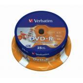 Płyta DVD-R VERBATIM 4,7GB Cake (25szt)