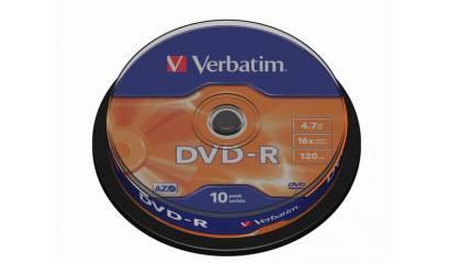 Płyta DVD-R VERBATIM 4.7GB Cake (10szt)