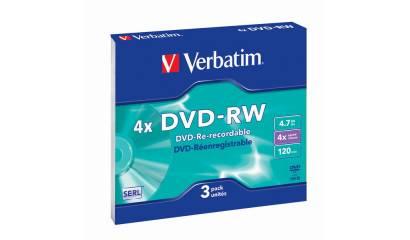 Płyta DVD-RW VERBATIM 4,7GB Slim (1szt)