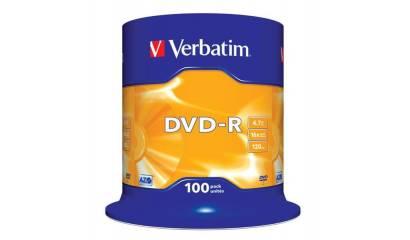 Płyta DVD-R VERBATIM 4.7GB Cake (100szt)