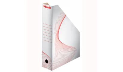 Pojemnik kartonowy na czasopisma ESSELTE białe 493222
